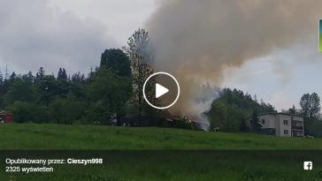 Pożar w Koniakowie - video