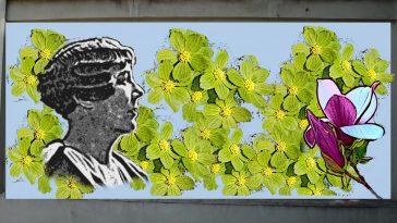 Mural przy dworcu w Cieszynie