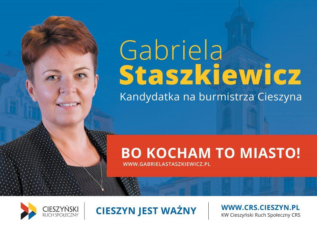 Gabriela Staszkiewicz - kandydatka na burmistrza Cieszyna